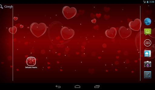 Delicate Hearts Free LWP v1.0.0