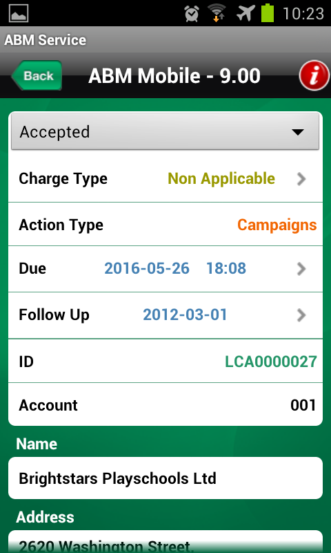 ABM Mobile- screenshot