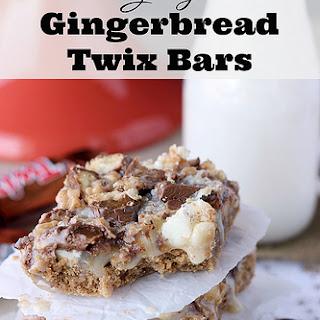 Gooey Gingerbread Twix Bars