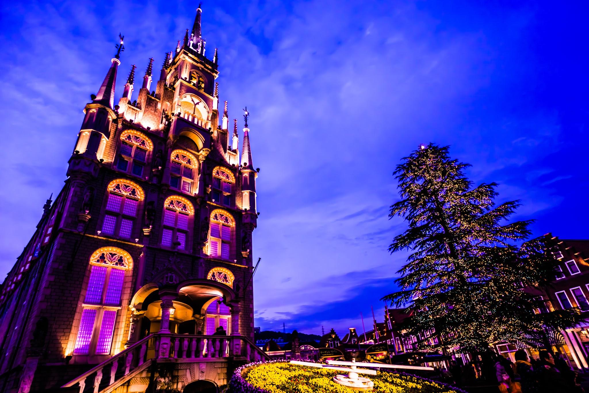 ハウステンボス イルミネーション 光の王国 アムステルダムシティ2