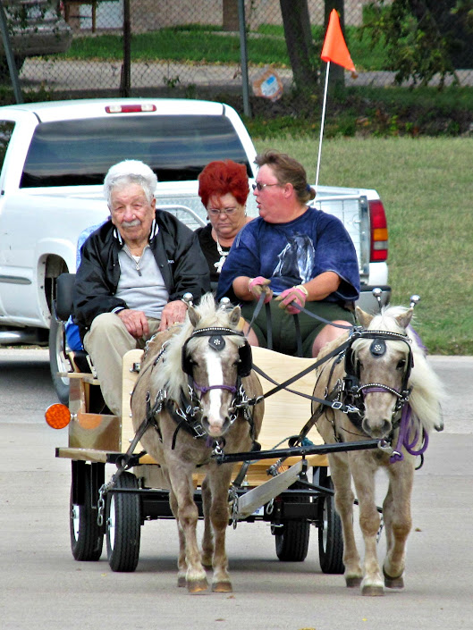 Giving residents rides in the wagon in Temple, TX