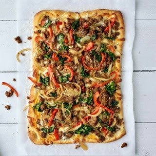 Spinach & Red Pepper Turkey Pizza.