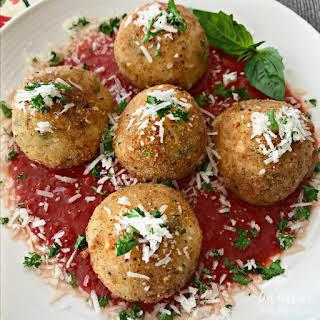 Arancini - Three Cheese Fried Risotto Balls.