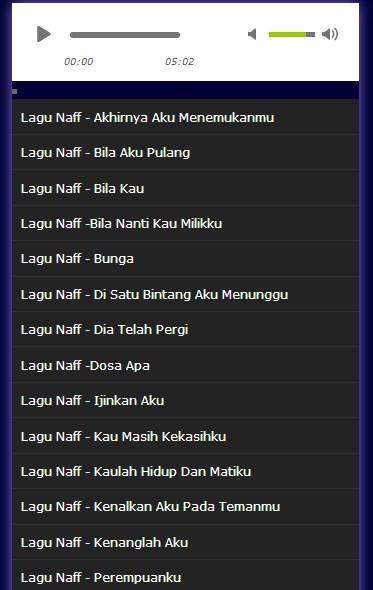 Kumpulan Lagu Naff Terpopuler Mp Screenshot