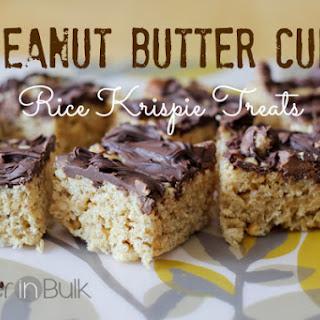Peanut Butter Cup Rice Krispie Treats.