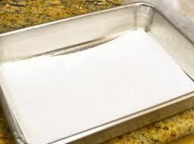 pre-heat oven to 350*F.  Butter and line bottom of a 13x9x2 inch pan...