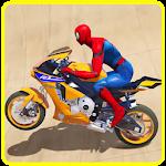 Superhero Motorbike Race Icon