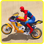 Superhero Motorbike Race