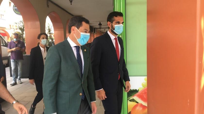 El presidente de la Junta de Andalucía, Juan Manuel Moreno, en su reciente visita a Almería.