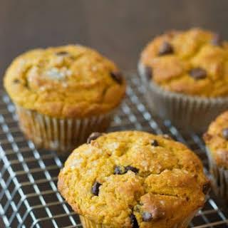 Gluten Free Easy Pumpkin Chocolate Chip Muffins.