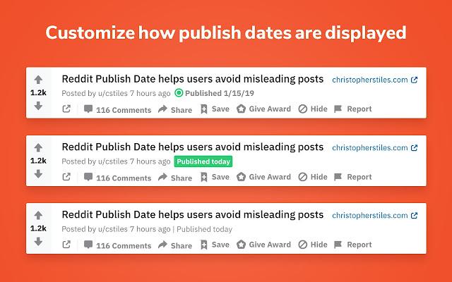 Reddit Publish Date