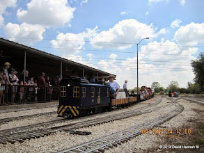 Photo: George Leventon leaving the station.     HALS Public Run Day 2014-0419 DH3