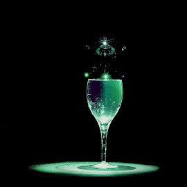 Spotlight by James Schenk - Food & Drink Alcohol & Drinks ( wine, water, speedlight, flash, bubble, wine glass, drink, drinks )