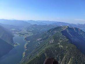 Photo: Der Sarstein leider bereits blau. Hat mir nur leichte Gipfelüberhöhung zugelassen und auch der Sandling war nur noch auf Gipfelhöhe abzufliegen.