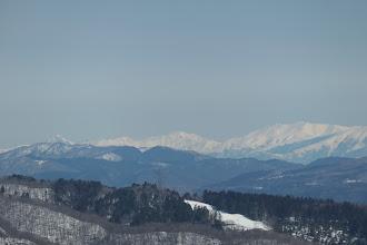右から薬師岳・館山・剱岳など