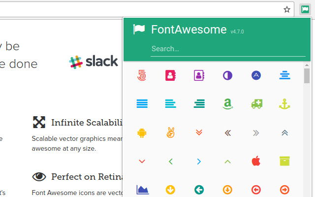 FontAwesome Picker