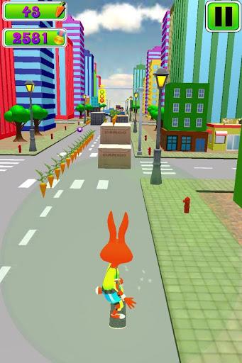 Bunny Skateboard Runner 3D