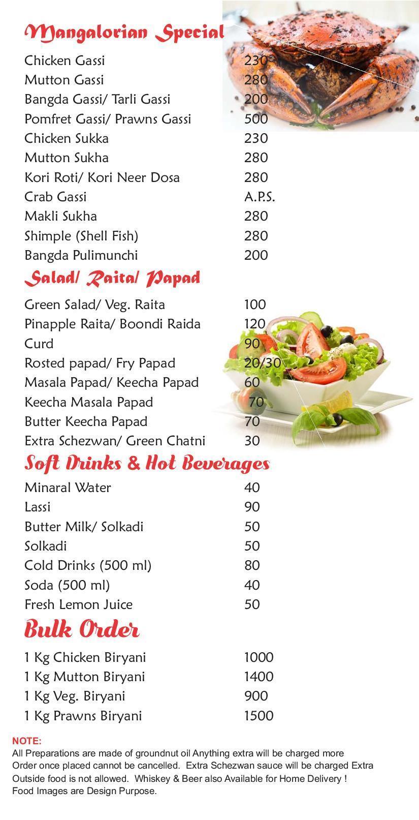 Sai Sannidhi Restaurant & Bar menu 5