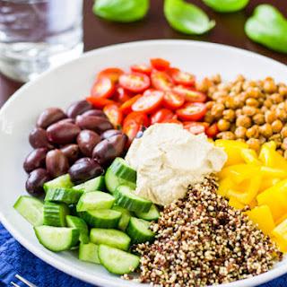 Mediterranean Vegan Bowl.