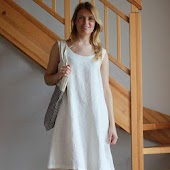 Linen dress and linen clothing