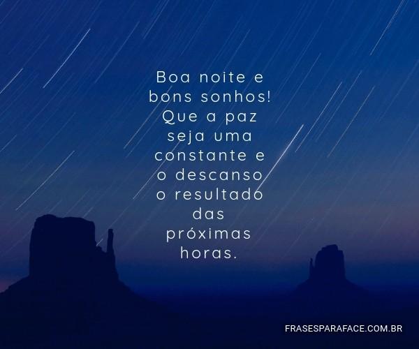 Boa noite e bons sonhos!...