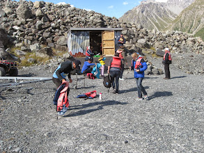 Photo: And some tourists getting ready for the trip. No, I didn't go...I've done this before, where there are much larger glaciers.