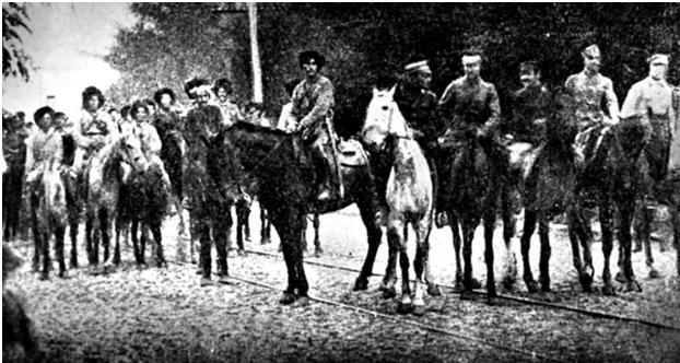 Зустріч махновців і січових стрільців в Умані. Вересень 1919-го