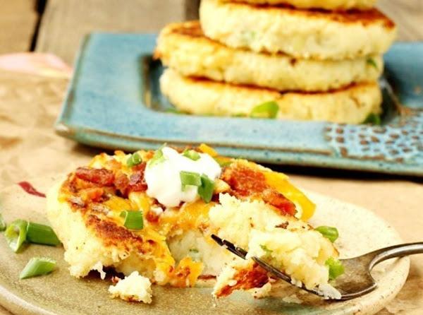 Mashed Parmesan Potato Cakes Recipe