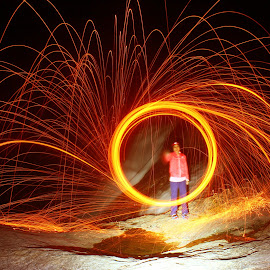 My frend and fire by Sham Anie - Abstract Fire & Fireworks
