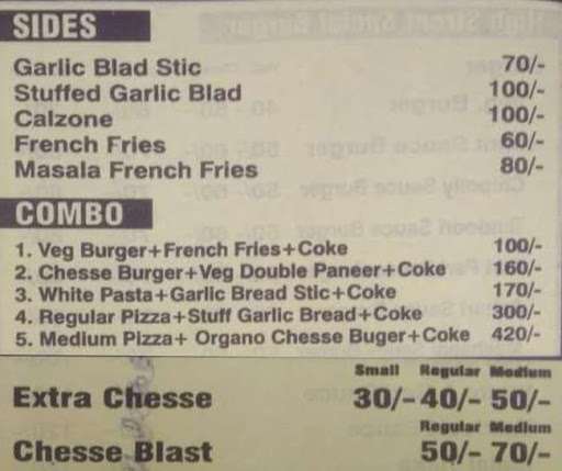 High Street Pizza & Burger Hub menu 2