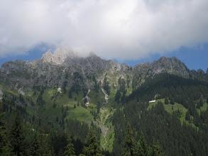 Photo: Gehrerspitze (wie immer in Wolken)