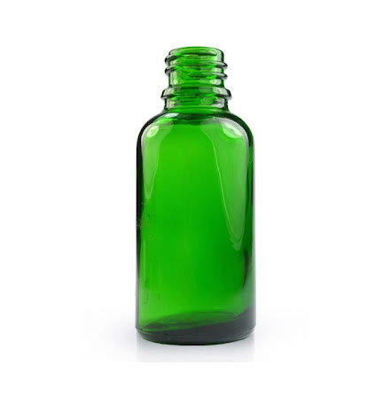 Glasflaska 30 ml - grön