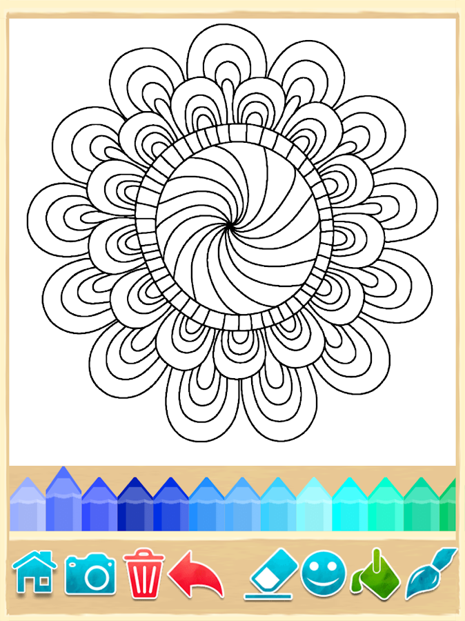 Mandala Coloring Pages Screenshot