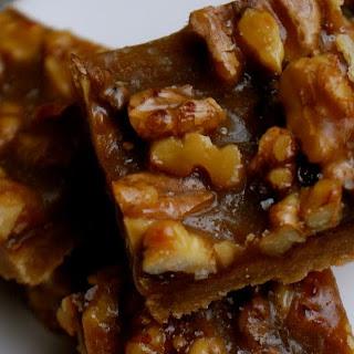Salted Caramel & Toasted Walnut Shortbread Bars
