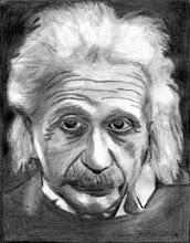 Photo: Albert EINSTEIN (1879 - 1955)  Portrait 190X150  (réalisé au crayon graphite + plomb)  http://fr.wikipedia.org/wiki/Albert_Einstein