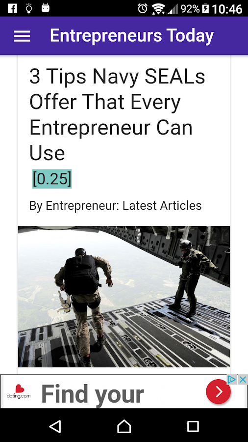 Entrepreneurs Daily News FREE- screenshot