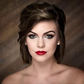 Starstruck... by David Lawrence - People Portraits of Women ( pose, model, red, diamonds, mua, makeup, lips, beauty, hair, skin, retouch, eyes, best female portraiture )