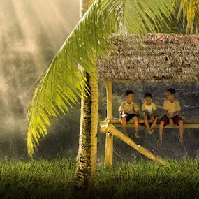 Boy in frame by Alamsyah Rauf - Babies & Children Children Candids