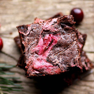 Cranberry Marshmallow Swirl Brownies