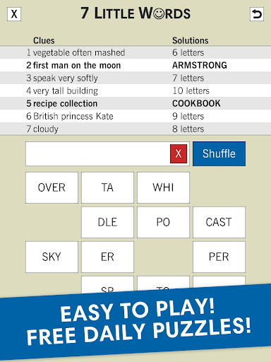 7 Little Words: A fun twist on crossword puzzles 5.9.4 screenshots 4