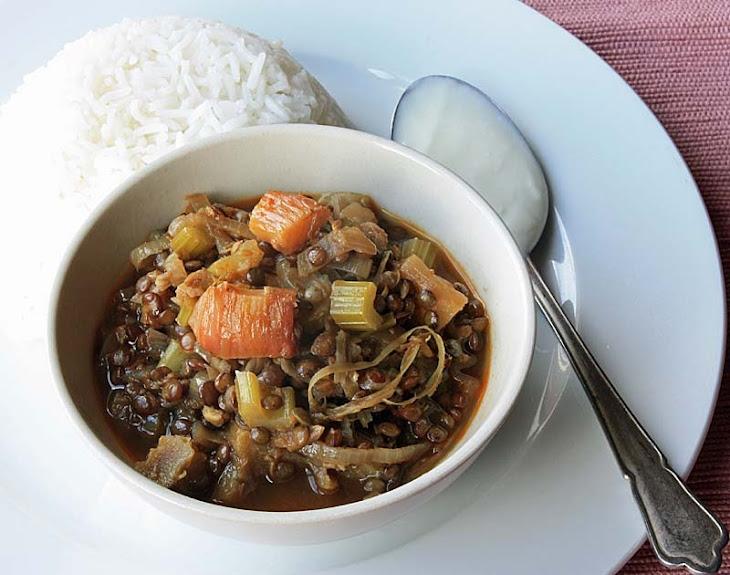 Celia'S Rhubarb and Lentil Curry Recipe