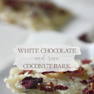 White Chocolate & Rose Coconut Bark.