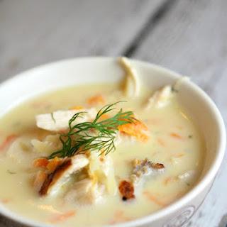 Greek Orzo and Lemon Chicken Soup.