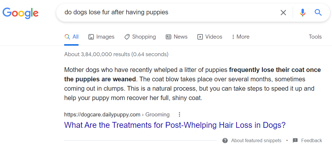 how to use keywords to set up featured snippets