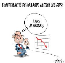 Photo: 09 01 2013 _ Impopularité de François Hollande