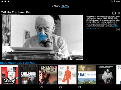 SnagFilms – Watch Free Movies App Download For Android 8