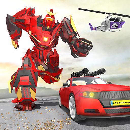 Muscle Car Robot Game – Transforming Robot Car