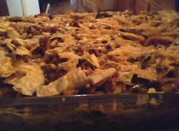 Southwestern Chicken Spaghetti Bake Recipe