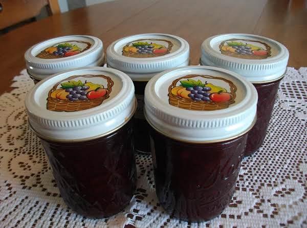 Razzy Rhubarb Blueberry Jam Recipe