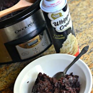 Crockpot Triple Chocolate Cake